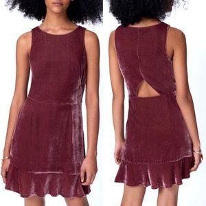 Rebecca Minkoff Tiffany Dress Velvet Mauve Size 10